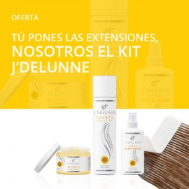 Buy tape hair extensions and get the J'Delunne kit for free