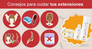 Infografía: Cómo cuidar tus extensiones