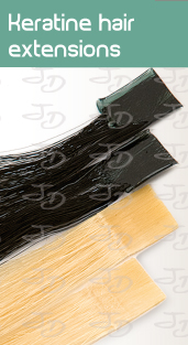 Keratine hair extensions