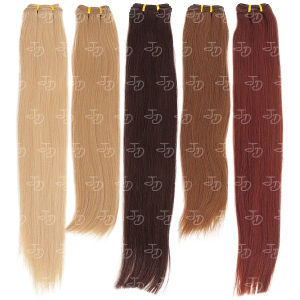 Weft straight hair extensions