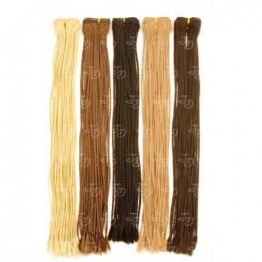 Synthetic braiding weft hair extensions