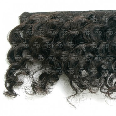 Weft super curly hair extensions