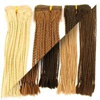 Synthetic braiding hair