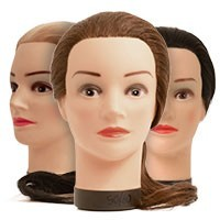 Human hair training heads
